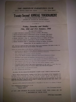 1968 Badminton Tournament